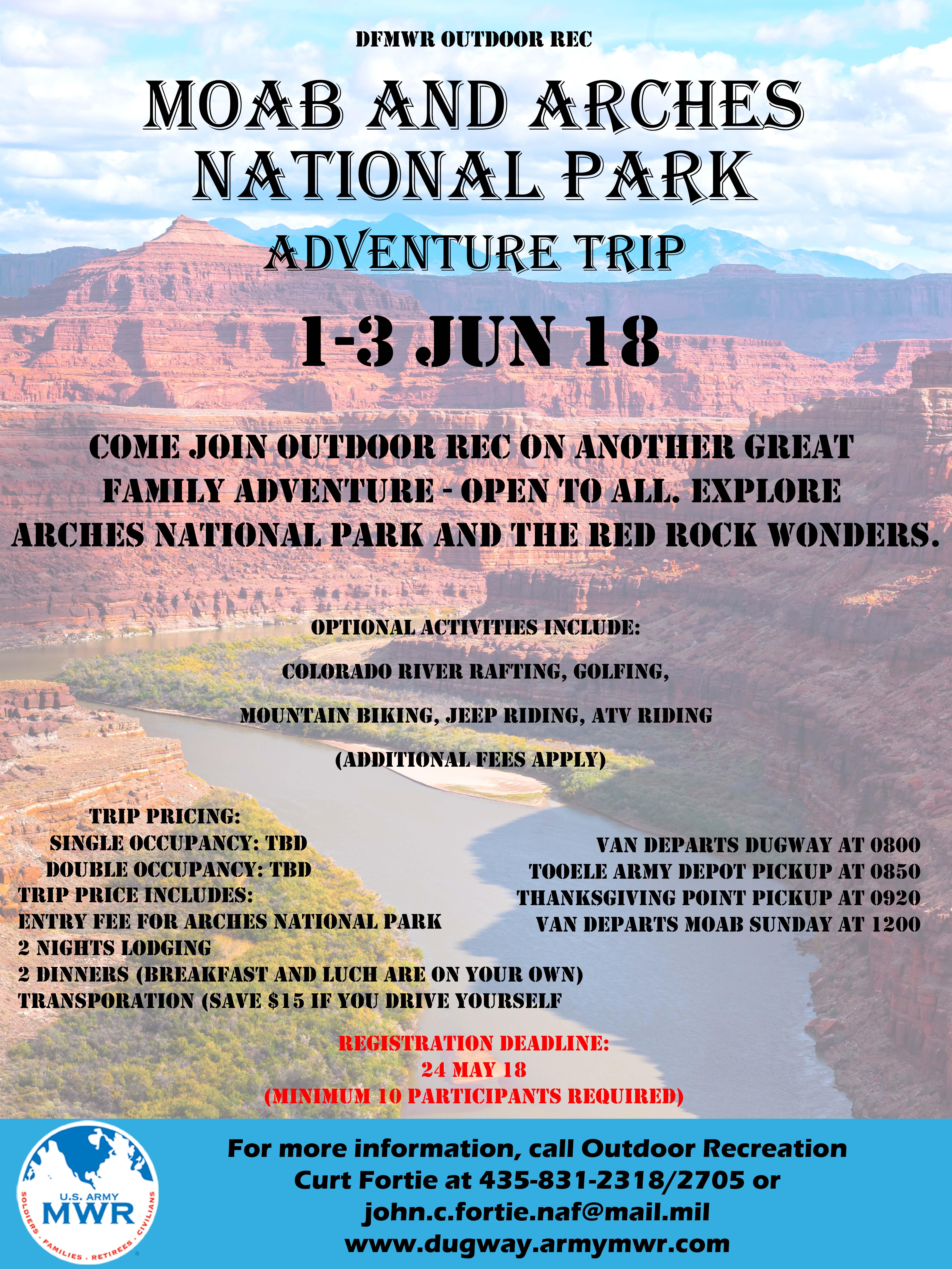 Moab Overnight Adventure Camp Trip