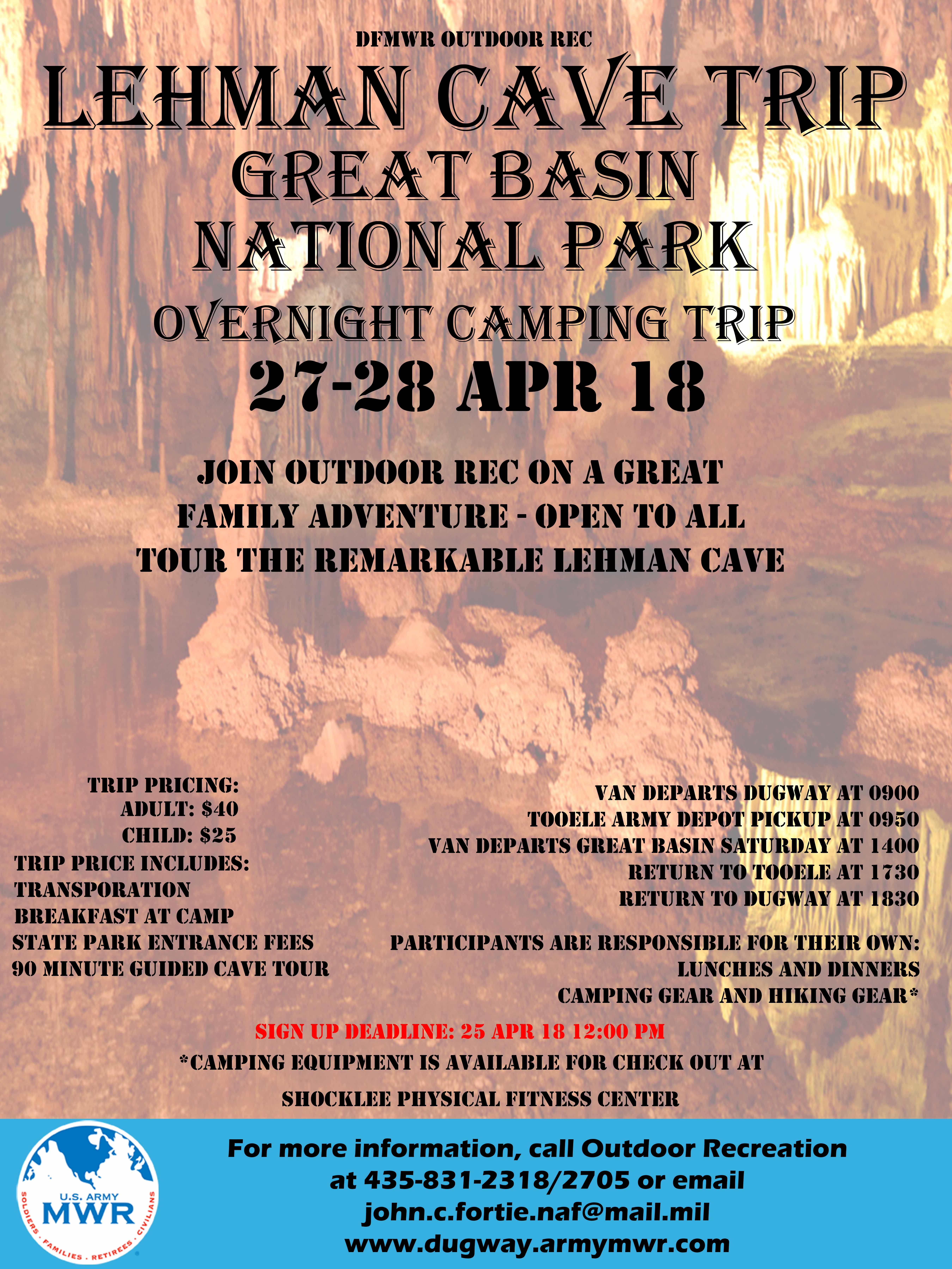 Lehman Cave Trip Great Basin National Park Overnight Camping